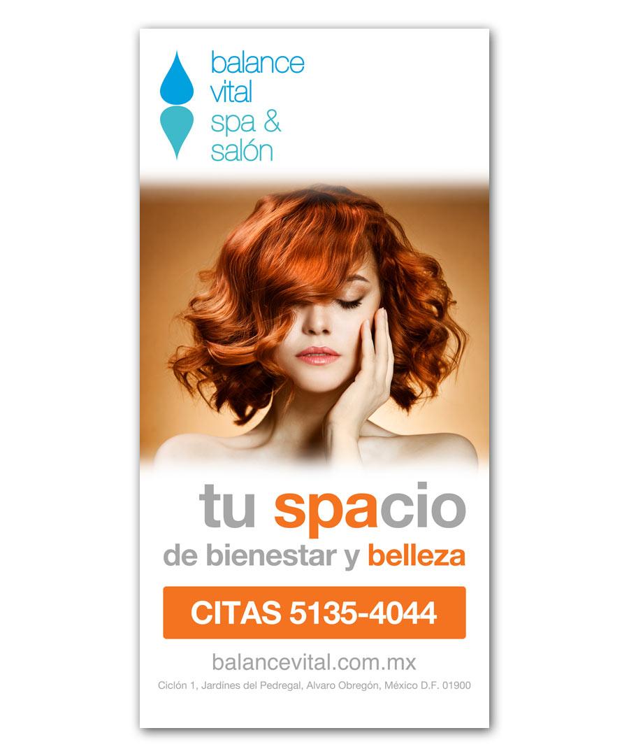Balance Vital SPA & Salón - Anuncio para calle - CreadoresWeb.mx