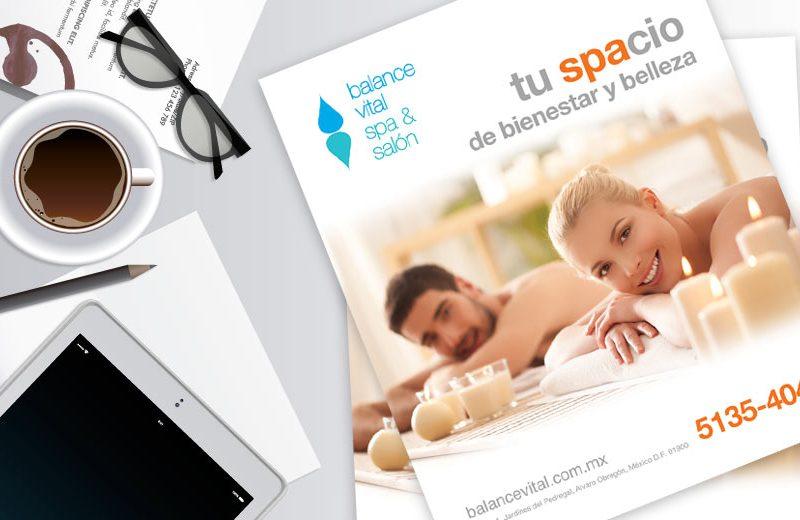 Balance Vital SPA & Salón - Anuncio para revista - CreadoresWeb.mx