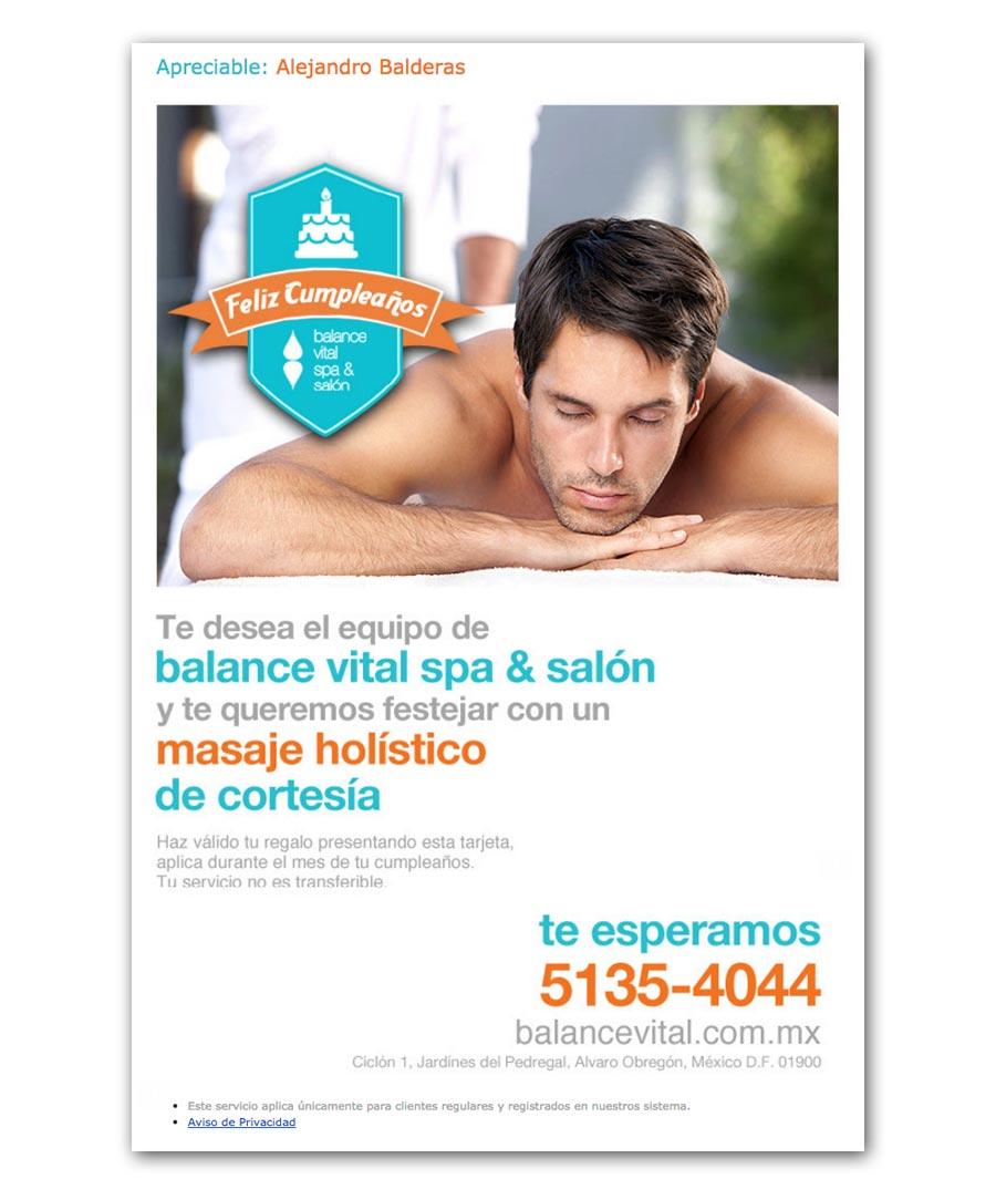 Balance Vital SPA & Salón - Tarjetas Electrónicas de Cumpleaños - CreadoresWeb.mx