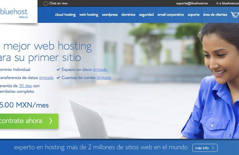 Bluehost - Diseño de Páginas Web - CreadoresWeb.mx