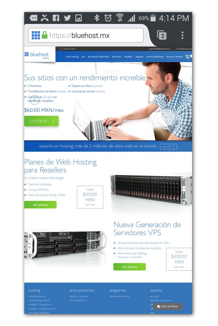 Bluehost - Página Web - CreadoresWeb.mx