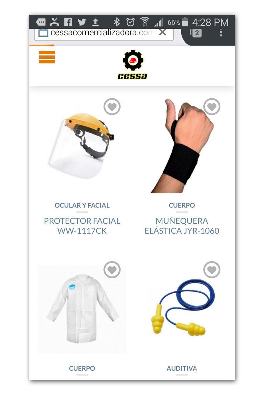 CESSA Comercializadora - Página Web - CreadoresWeb.mx