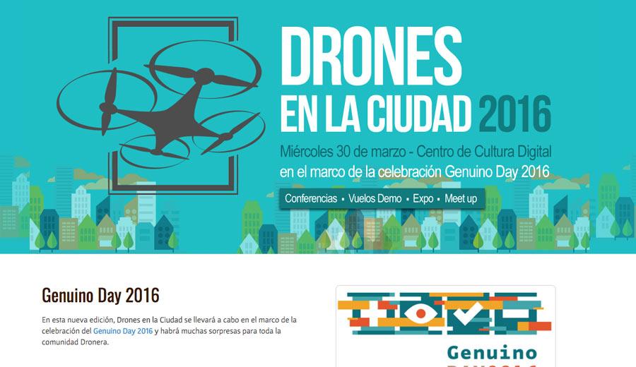 Diseño de Páginas Web - Drones en la Ciudad - CreadoresWeb.mx
