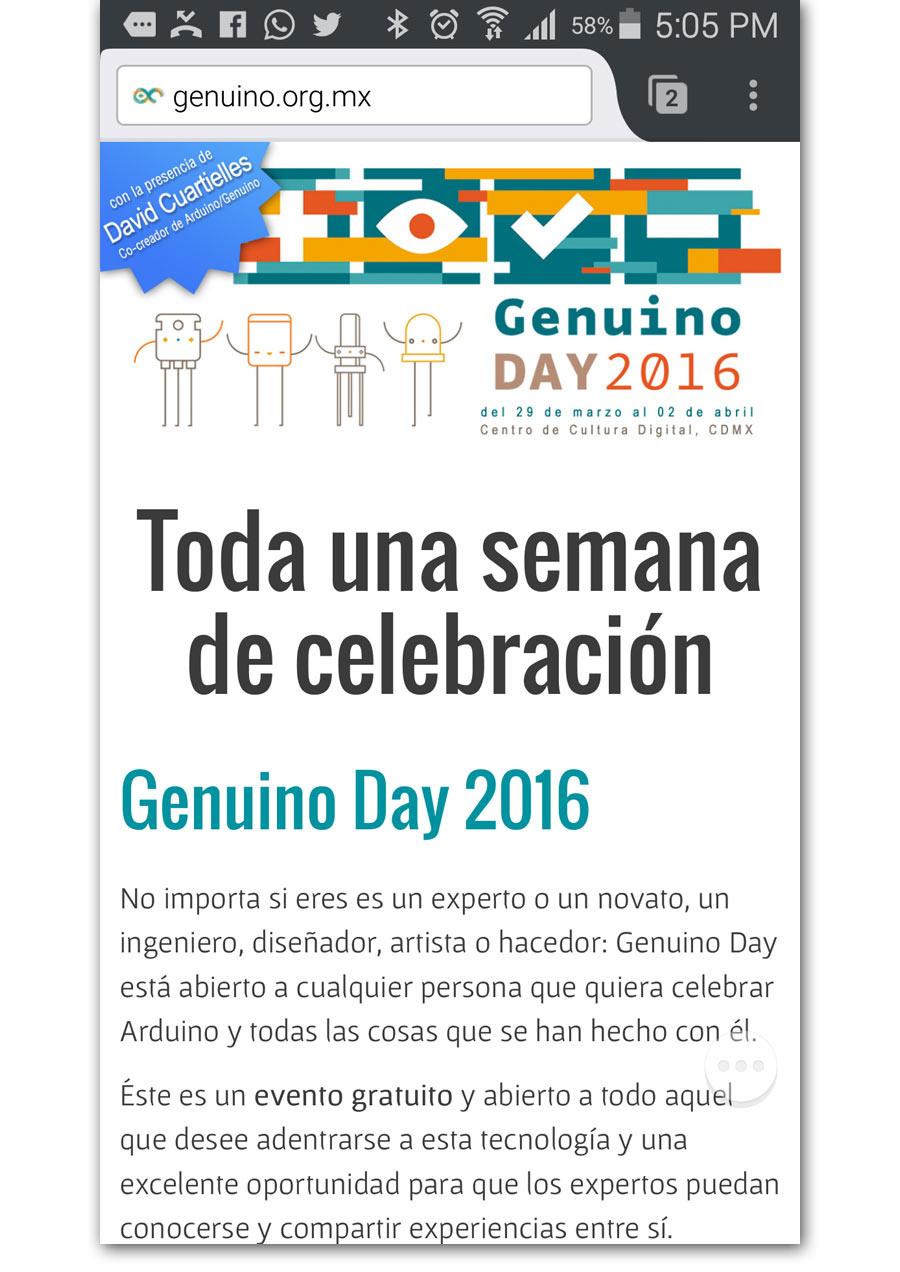 Genunino Day - Página Web - CreadoresWeb.mx
