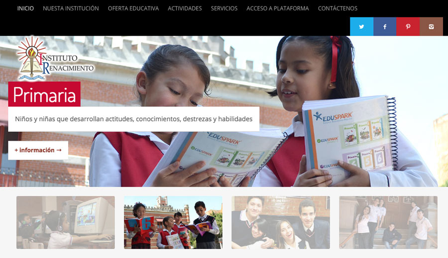 Instituto Renacimiento - Diseño de Páginas Web - CreadoresWeb.mx