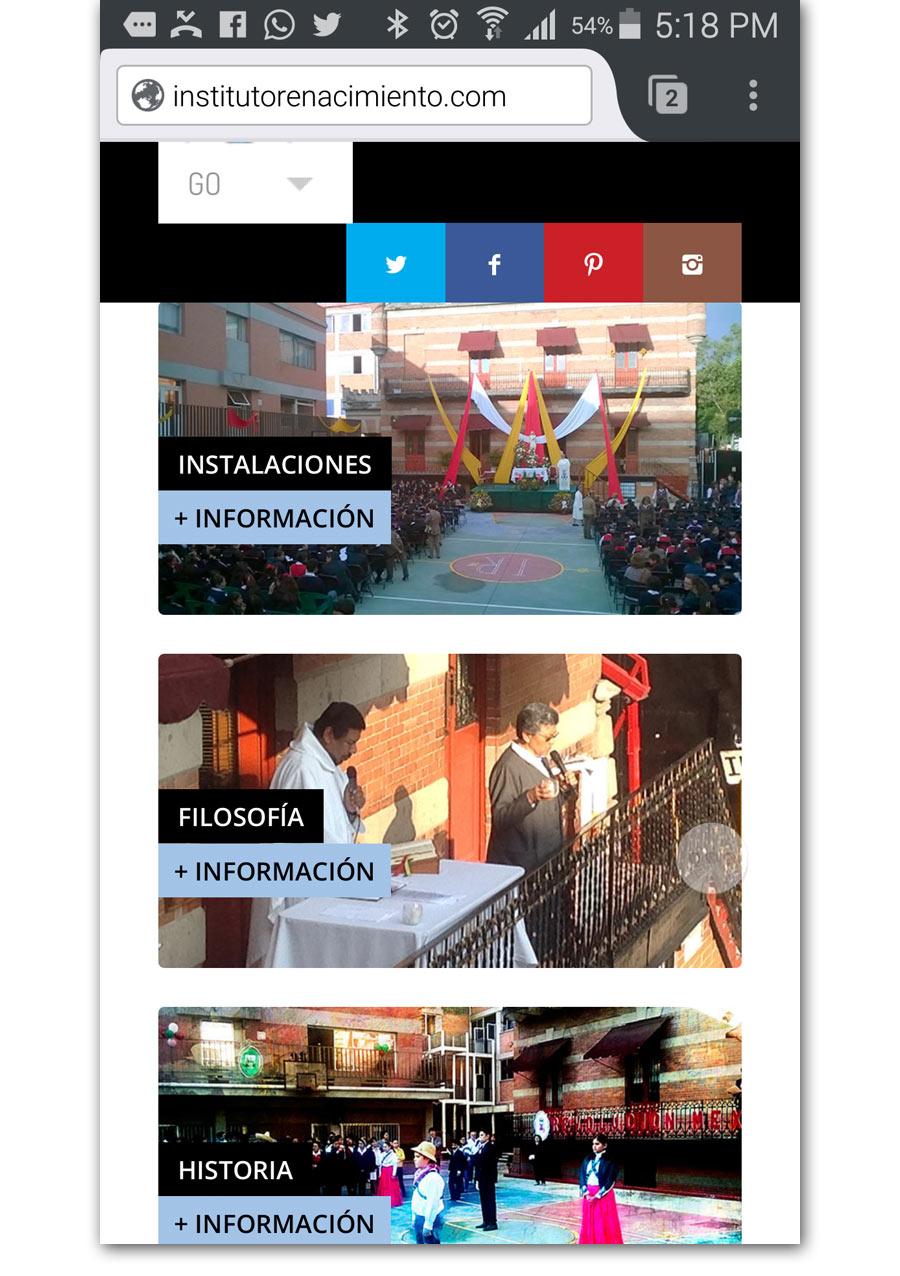 Instituto Renacimiento - Página Web - CreadoresWeb.mx