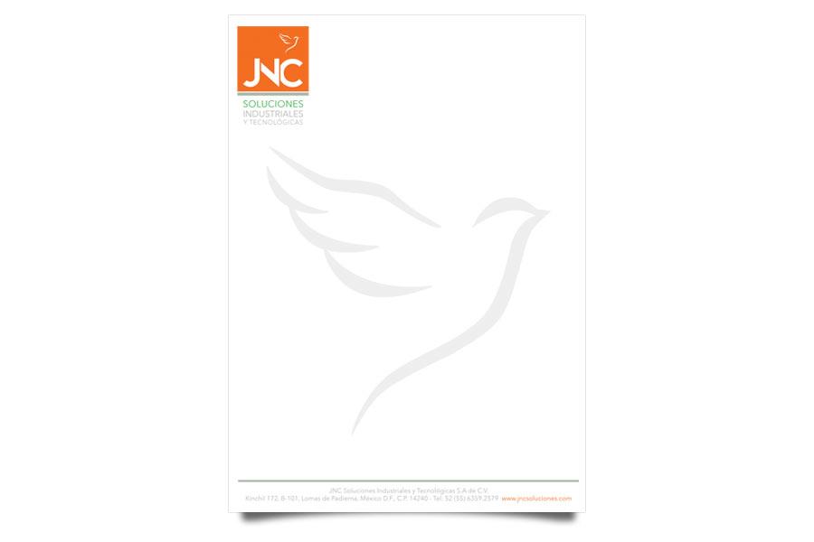 JNC Soluciones - Hojas Membretadas - CreadoresWeb.mx