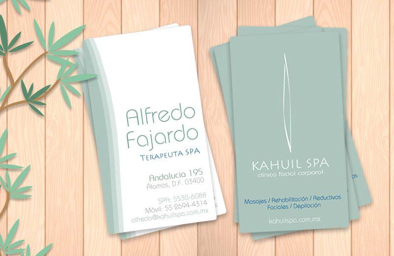 Kahuil SPA - Tarjetas de Presentación - CreadoresWeb.mx