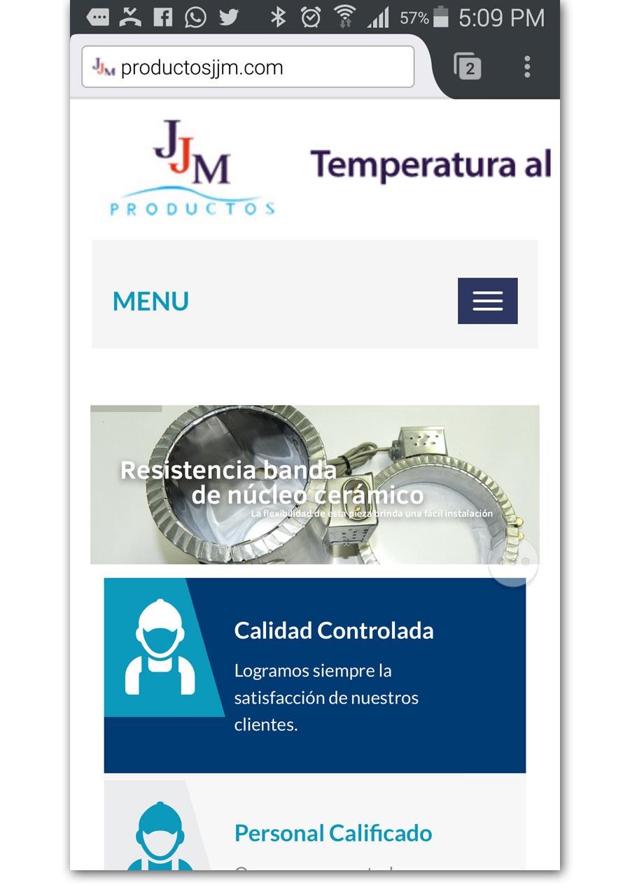 Productos JJM - Página Web - CreadoresWeb.mx