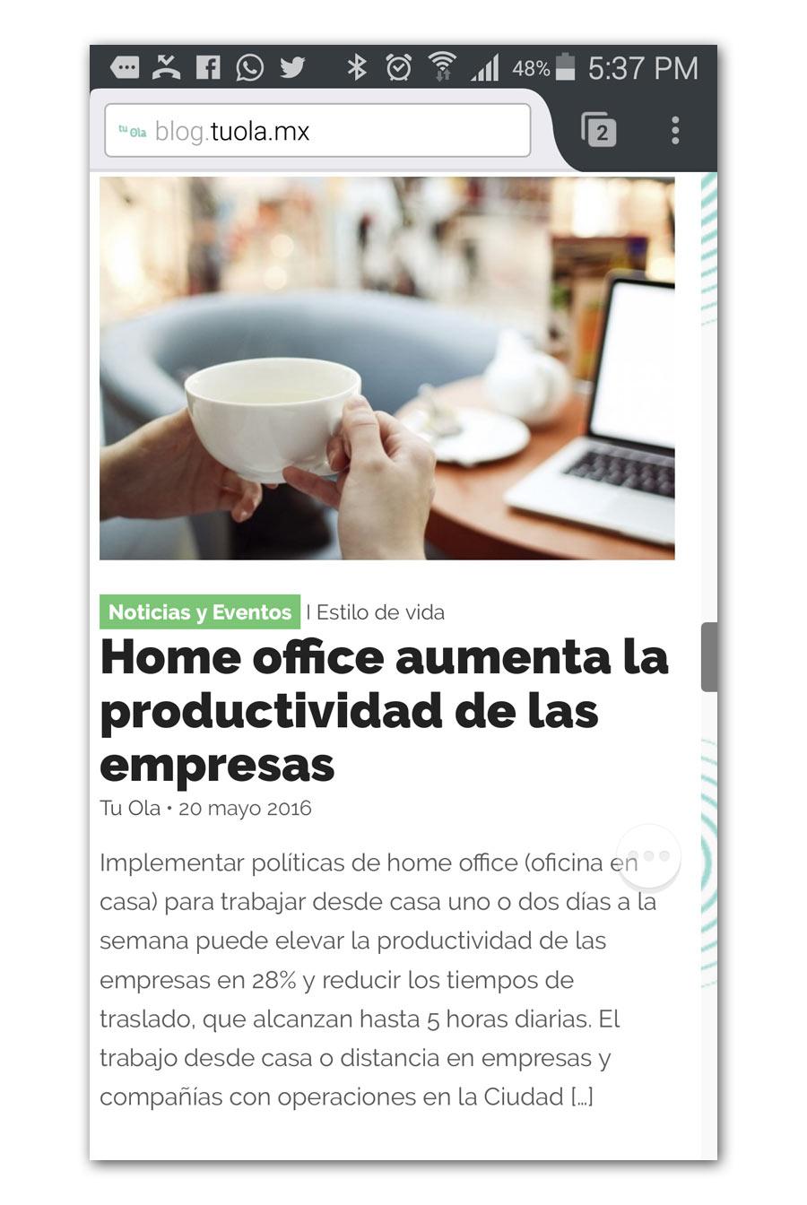 TuOla - Página Web - CreadoresWeb.mx