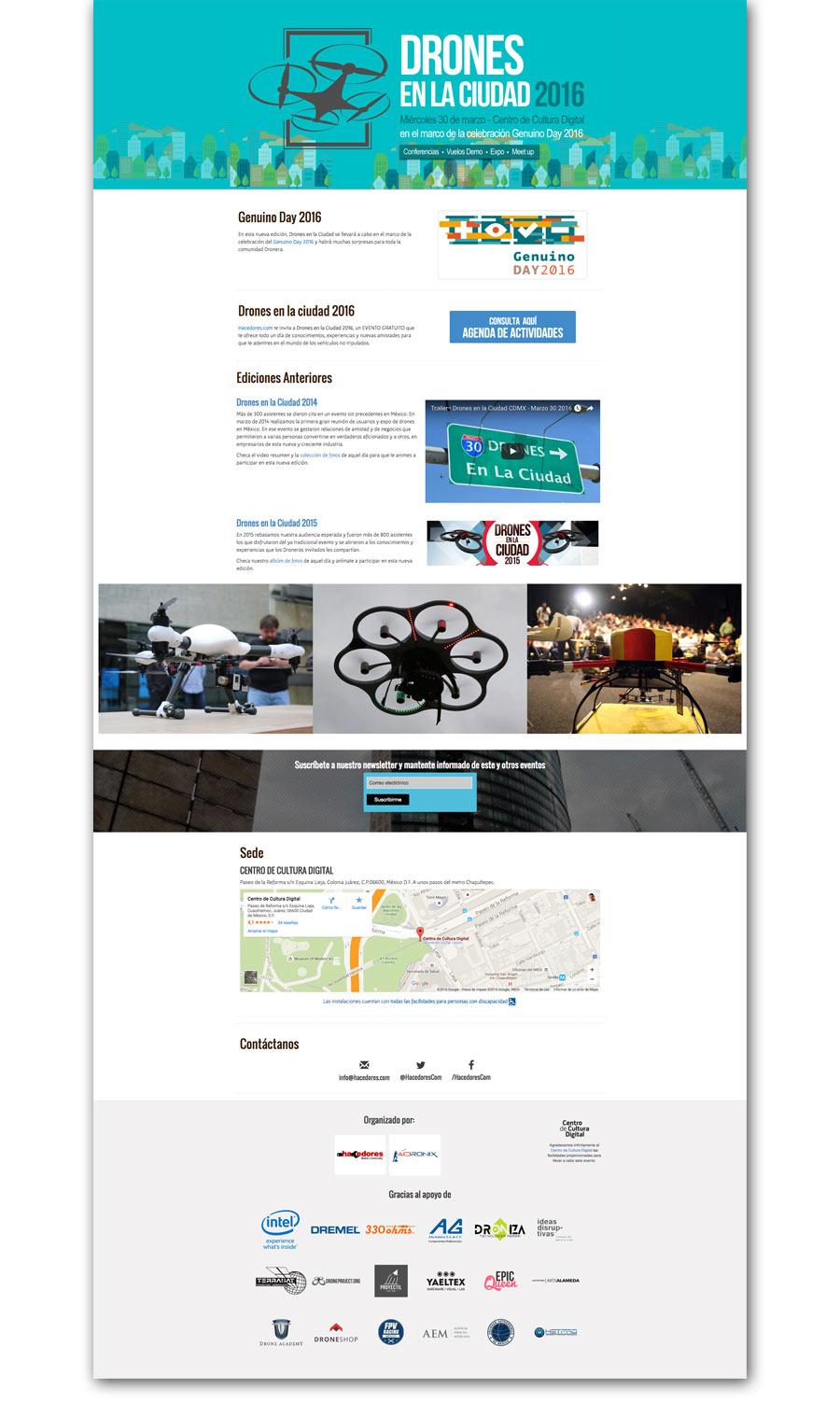 Drones en la ciudad - Página Web - CreadoresWeb.mx