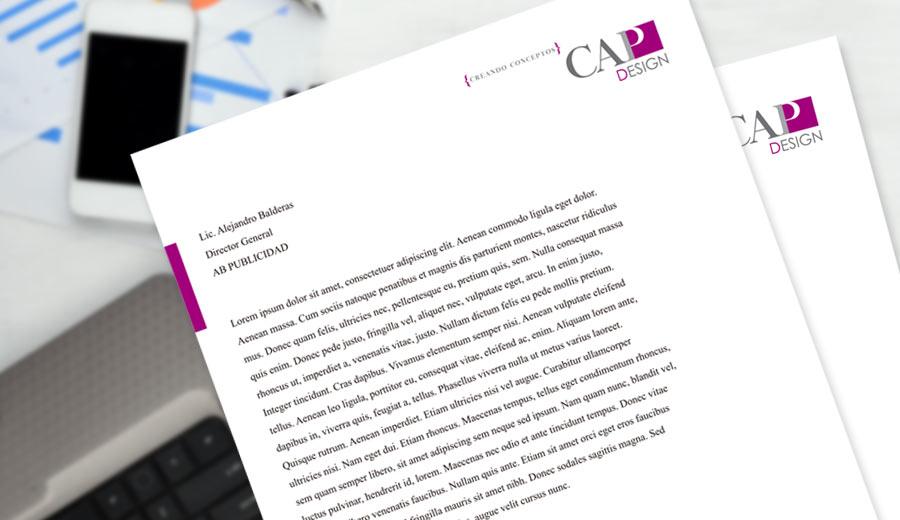 CAP Design - Hoja Membretada - CreadoresWeb.mx