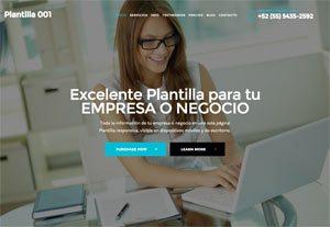 Plantilla Emprendedor 001 - Páginas Web para Emprendedoras - CreadoresWeb.mx