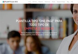 Plantilla Emprendedor 003 - Páginas Web para Emprendedores - CreadoresWeb.mx
