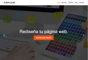 Plantilla Emprendedor 005 - Páginas Web para Emprendedoras - CreadoresWeb.mx