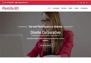 Plantilla Profesional 001 - Páginas Web para Emprendedores - CreadoresWeb.mx