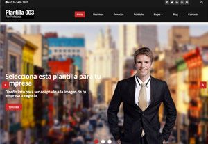Plantilla Profesional 003 - Páginas Web para Emprendedores - CreadoresWeb.mx