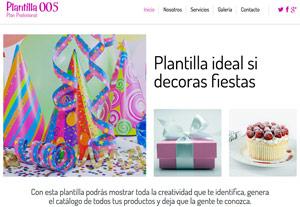 Plantilla Profesional 005 - Páginas Web para Emprendedores - CreadoresWeb.mx