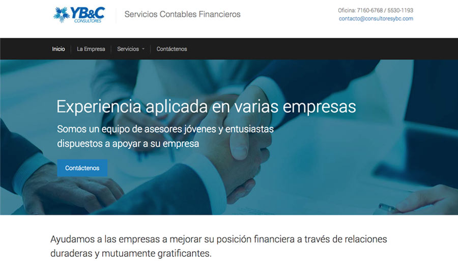 YB&C Consultores - Diseño de Páginas Web - CreadoresWeb.mx