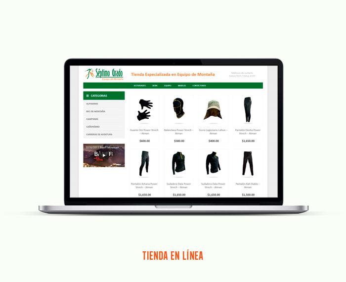 El Séptimo Grado - Diseño y Desarrollo de Tienda en Línea - CreadoresWeb.mx