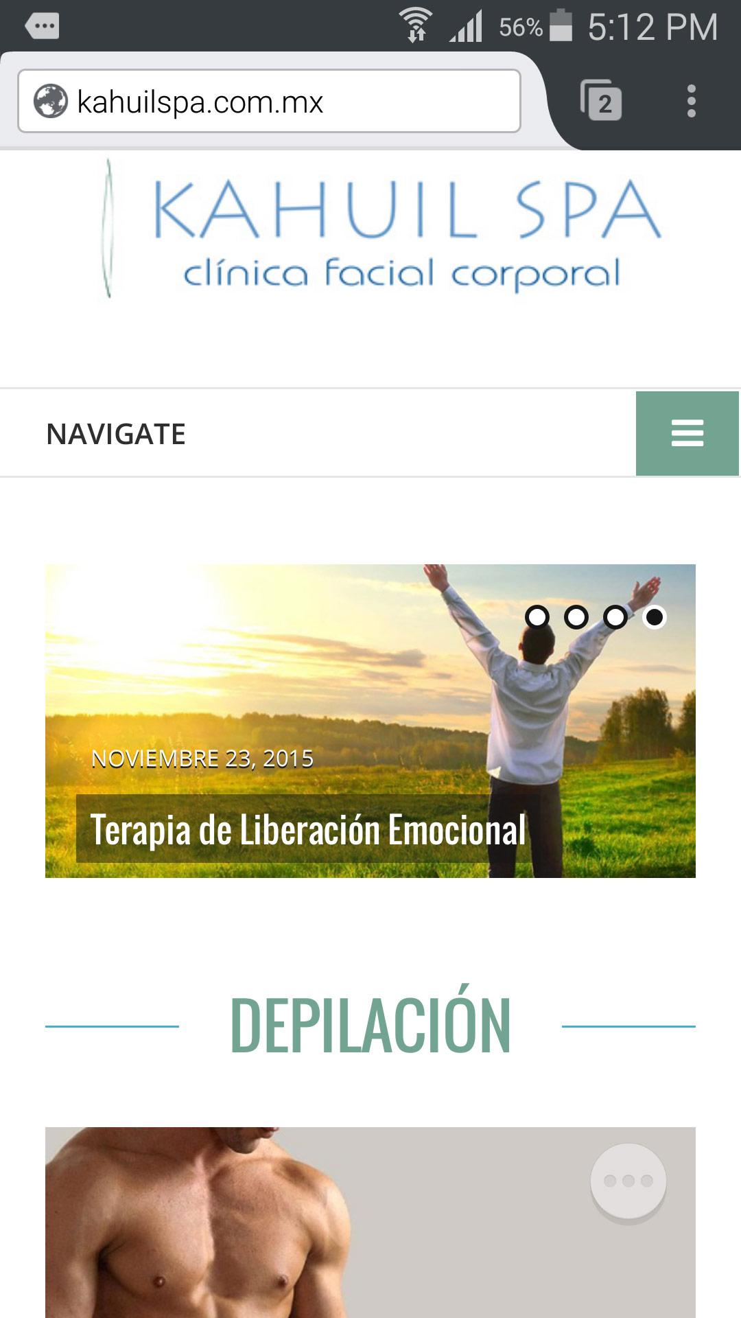 Kahuil SPA - Diseño de Página Web - CreadoresWeb.mx