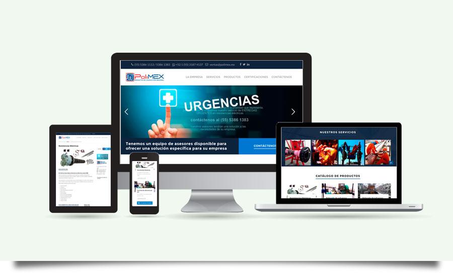 Polimex - Diseño de Página Web - CreadoresWeb.mx