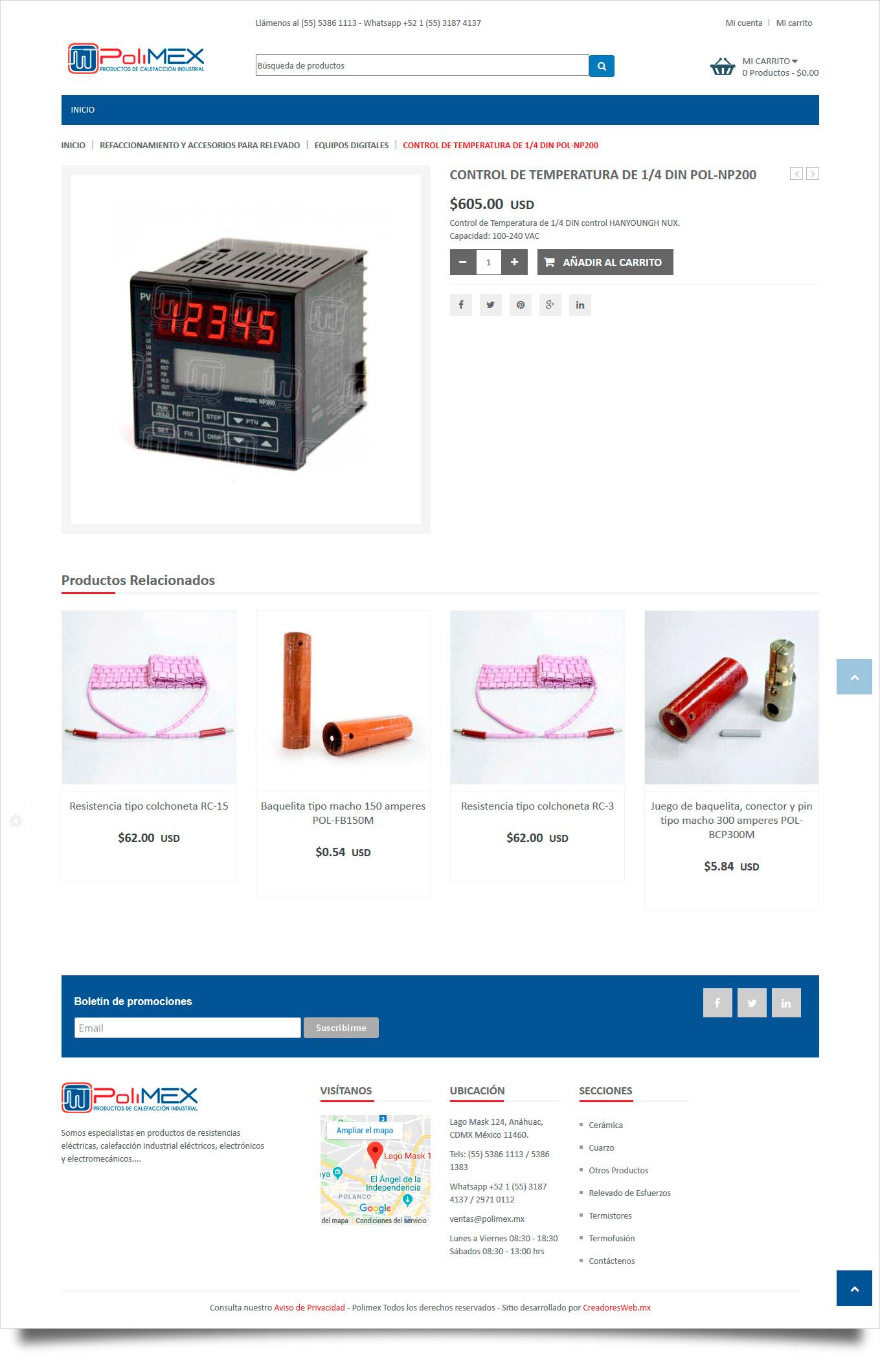 Polimex - Diseno y Desarrollo de Tienda en Linea - CreadoresWeb.mx