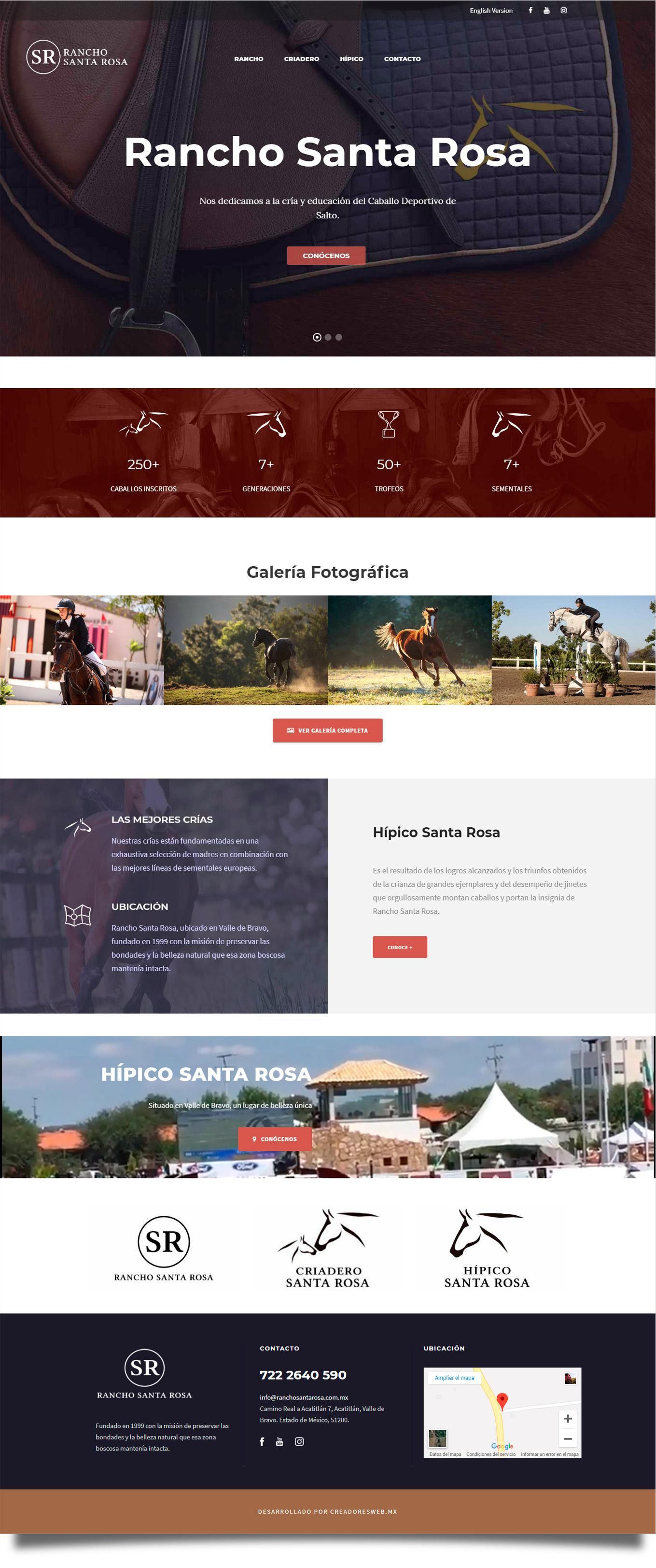 Rancho Santa Rosa - Diseño de Página Web - CreadoresWeb.mx