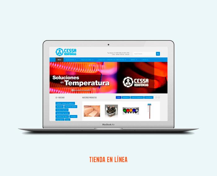 Resistencias Industriales CESSA - Diseño de Páginas Web - CreadoresWeb.mx