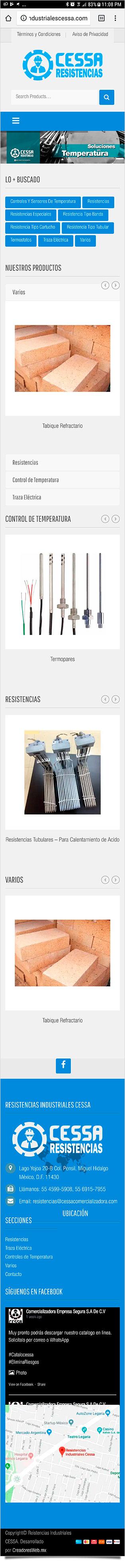 Resistencias Industriales CESSA - Diseño y Desarrollo de Tienda en Línea - CreadoresWeb.mx