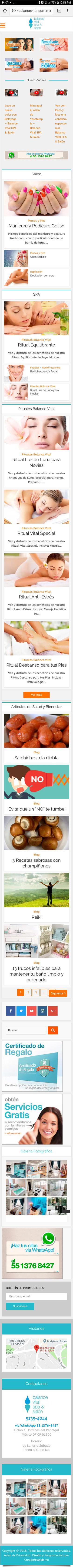 Balance Vital SPA & Salón - Diseño de Página Web - CreadoresWeb.mx