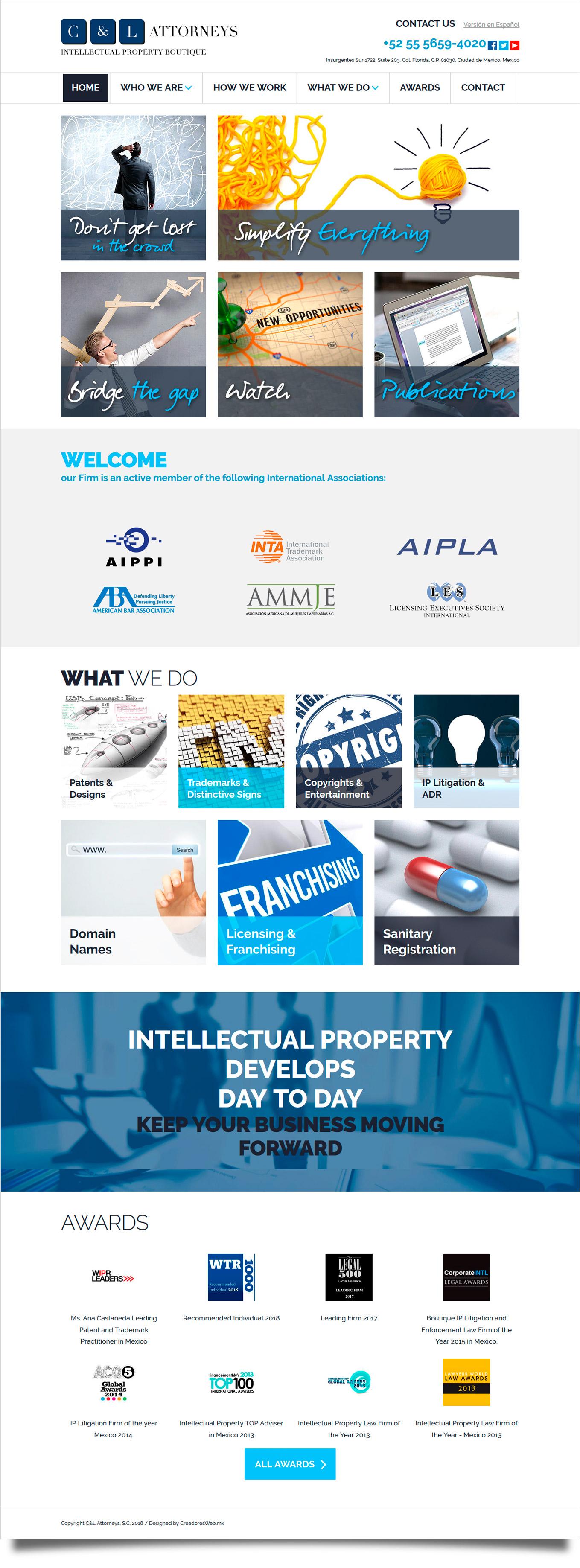 C&L Attorneys - Diseño de Página Web - CreadoresWeb.mx