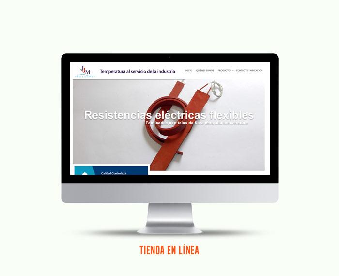 Productos JJM - Diseño y Desarrollo de Tienda en Línea - CreadoresWeb.mx