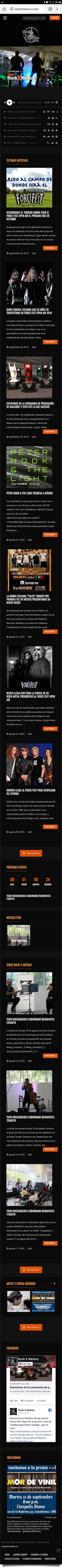 Rock X México - Diseño de Página Web - CreadoresWeb.mx