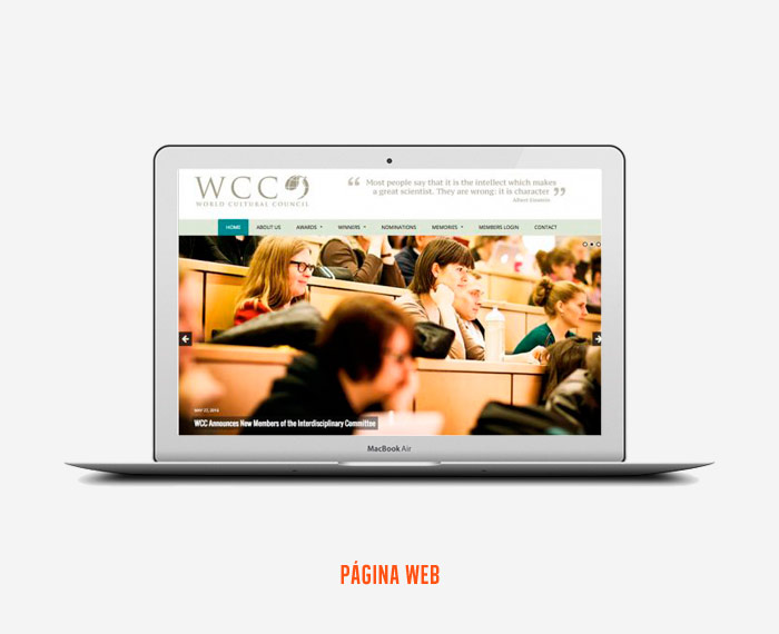 World Cultural Council - Diseño de Página Web - CreadoresWeb.mx